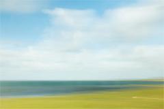 grassland.....tideland.....North Sea land (Brigitte Lorenz) Tags: northsea tideland seascape abstract colors summer mood nature icm