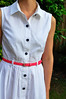 McCall's 6696 (PatsyPoo_) Tags: dress dressmaking mccalls shirtdress sewing collar collarstand buttonfront buttons pleats pleatedskirt