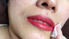 Dạy phun xăm Ely Vân - môi vừa mới phun (Day phun xam Ely Van) Tags: dạy phun xăm ely vân môi vừa mới