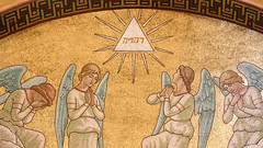 The Divine Name (Lawrence OP) Tags: holyname divine name god yhwh tetragrammaton angels lourdes rosary basilica mosaic
