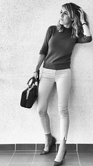 My wife (Antibetiks) Tags: blancoynegro blackandwhite bn style estilo portrait retrato modelo preciosa bonita esposa mujer wife wonderful pretty beautiful sexy woman