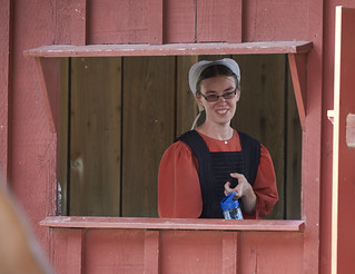 Amish Girl in Window