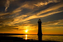 New brighton lighthouse sunset (saile69) Tags: newbrighton wirral coast lighthouse sunset tide