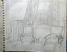 1-58 Sketch of living room (shantipoet) Tags: mom art pencil livingroom chair television