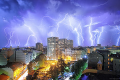 Hera, what have u done? (Boris Mrdja) Tags: storm night light lightning strike thunder munje oluja beograd belgrade serbia srbija noc clouds oblaci gromovi tasmajdan palilulskapijaca longexposure stacked city cityscape citylights urban