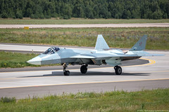 "T-50-2, taxiing after a flight (Pavel ""Myth"" YB) Tags: russianaviation russianairforce russia russianmilitaryaircraft russiancombataircraft sukhoi aviation airshow airfoecerf t50"