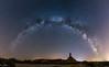 Castil de tierra (omar huerta) Tags: bardenas navarra desierto castildetierra vialactea milkyway estrellas stars