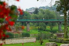 Uniejów most nad Wartą (Marek_galeria) Tags: uniejów basen canon las river canon700d termy zamek castle