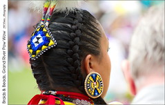 Braids & Beads, Grand River Pow Wow (jwvraets) Tags: powwow championofchampions grandriver chiefswood brantford firstnations dancer woman portrait costume beadwork braids caledonia opensource rawtherapee gimp nikon d7100 afpnikkor70300mm