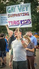 2017.07.26 Protest Trans Military Ban, White House, Washington DC USA 7626