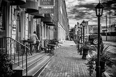 Closer to my mood. (Igor Danilov Philadelphia) Tags: bw philadelphia mood like mono street front sky clouds north northfrontstreet downtown