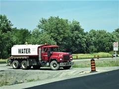 """ SOB, Gimme A Drink.."" (roaddragon305) Tags: mack tanktruck tanker watertruck highwaymaintenance roadspot"