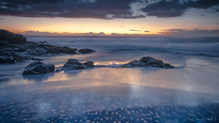Costa de Curanipe (josemcalvol) Tags: pacificocean sothamerica chile seventh region curanipe golden dorados azules blue sea mar sunset bluehour rocks piedras