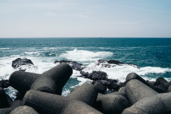 Sagami Bay Coast Line (Mariusz Sikorski) Tags: travel japan ocean coast bay sea kanagawa blue film analog