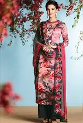 Pink Georgette Satin Printed Palazzo Suit (nikvikonline) Tags: satin satinsalwar salwarkameez pakistani pakistanisuit suit suitsalwar salwar kameez designersalwar salwarsuit designer kamiz kamizonline suits straight pant green blue bridal wedding dress dresses
