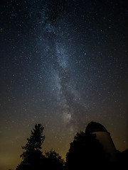 Milky way over Observatory at F2 (Tea Jay Photography) Tags: milchstrase milkyway stars sterne observatorium observatory sternwarte hoherlist eifel vulkaneifel laowa75mm