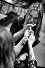 (adamkiewiczantonina) Tags: people monochrome blackwhite tat tattoo smoking cigarette women