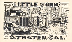 The Viking : Little John - Atwater, California (73sand88s by Cardboard America) Tags: vintage qsl cbradio cb qslcard frog turtle theviking california dirty truck