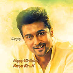 Birthday Special Editz  Happie Birthday surya sir...!! (sanjaynavley) Tags: watercolor watercolour vector background illustration eps10 pastel paint painted grunge emo paintwash abstractbackground