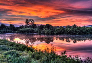 Summer Sunset Cherry Blossom Trail Pond Daleville
