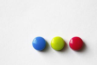 three tiny magnets