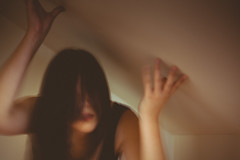 263/365 claustrophobia (Emily Moy Photography) Tags: claustrophobia conceptual portrait conceptualportrait photography people selfportrait self fear alone walls girl hair faceless blur blurry canon 365 365project emotion feeling emilymoy emilymoyphotography suffocation cinematic