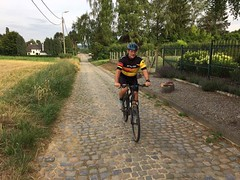 """Me riding on Belgian cobblestones or """"pavee"""" (Patrissimo2017) Tags: cycling"""