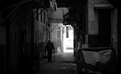 INTO THE LIGHT (Dan ODonnell) Tags: morocco old man berber tangier travel backpack walking stick black white monochrome street photography africa alley backstreet age dan odonnell