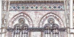 Gothic revival (Snapshooter46) Tags: saintpancras railwaystation london gothicrevival georgegilbertscott architect architecture photosketch trainshed