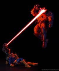 Borrowed Powers (opt1cs) Tags: action actionfigures comics cyclops figures hasbro jimlee legends marvel mvc onslaught rogue toys xmen toyphotography