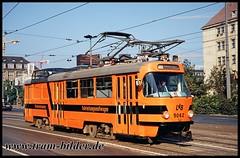 5062-1994-09-24-1-Hauptbahnhof (steffenhege) Tags: leipzig strasenbahn tram ckd t4d arbeitswagen 5062