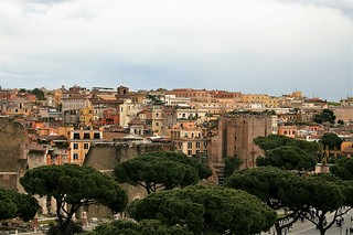 Vista de la ciudad desde el monumento a Víctor Manuél II - Roma - Italia