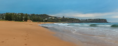 South Bilgola Headland Panoramic Seascape (Merrillie) Tags: daybreak bilgola sand landscape nature water panorama newsouthwales rocks nsw beach scenery panoramic headland clouds newport earlymornings waterscape sea australia dawn seascape