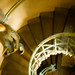 People moving down stairs inside the Siegessäule