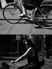 nel[La Mia Città][Pedala] Aidoru (Urca) Tags: milano italia 2017 bicicletta pedalare ciclista ritrattostradale portrait dittico bike bicycle nikondigitale scéta biancoenero blackandwhite bn bw 1029