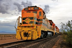 HellrAZER (BravoDelta1999) Tags: arizonaeastern azer railroad southernpacific sp railway cliftonsubdivision lordsburg newmexico ge b408 4001 4002 manifest train