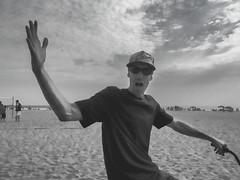 Local Motion (MacroMarcie) Tags: hss sliderssunday newportbeach man streetphotography candid blackandwhite monochrome olympus penf
