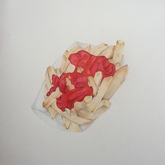 (thespacegrits2) Tags: foodart coloredpencil fries