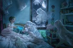 the haunted room (erwann.martin) Tags: room haunted child girl plush erwannmartin creative magic onirique