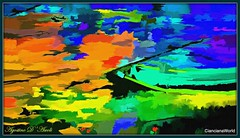 Riflessi sul lago... di sera - Luglio-2017 (agostinodascoli) Tags: art digitalart popart texture nature colori fullcolor creative agostinodascoli cianciana sicilia nikon nikkor photoshop photopainting