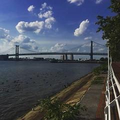 Hold thy breath (nisaaax) Tags: boardwalk newjersey blue goose geese bridge benjaminfranklin benjaminfranklinbridge ben water waterfront philadelphia philly camden