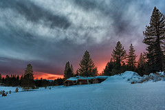 Truckee Sunset (Aaronmh01) Tags: sunset snowstorm snow northernca truckee tahoenationalforest sonya6300 gettingoutandexploring silhouettes skylovers