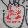 Ça arrive (Fred:) Tags: communism karl marx montreal red ink paint marxism marxist wall mileend mur stencil streetart urban street art urbain graffiti pochoir mile end communist propaganda capitalism communisme capitalisme politics protest politique stencils ça arrive it happens