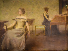 Thomas Wilmer Dewing - Brocart de Venise, 1905 at Mildred Lane Kemper Art Museum St Louis MO (mbell1975) Tags: universitycity missouri unitedstates us thomas wilmer dewing brocart de venise 1905 mildred lane kemper art museum st louis mo stl usa america museo musée musee muzeum museu musum müze museet finearts fine arts gallery gallerie beauxarts beaux galleria painting american realist realism portrait