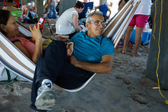 Hammock (dtanist) Tags: nyc newyork newyorkcity new york city sony a7 konica hexanon 40mm brooklyn coney island sand beach boardwalk steeplechase pier hammock couple