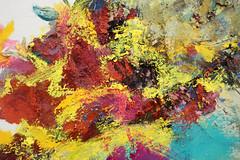 Detalle de Pintura (alejandralilith) Tags: pintura exposición museo pintores oaxaqueños detalle zoom macro macrofotografía macrophoto painting art arte