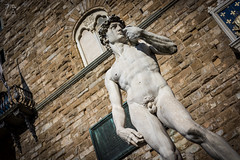David (Zano91) Tags: center centre history sun ray rays reflecting reflections nikon d7100 sigma 1835 f18 italy italia buildings architecture grey cloud clouds poles streets alleys lamp blue red bricks windows tower estense road outdoor building miracoli piazza pisa dome leaning famous david michelangelo statue marble florence firenze signoria