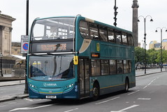 ANW 4677 @ Liverpool Lime Street (ianjpoole) Tags: arriva merseyside alexander dennis enviro 400 sk15gzp 4677 working route 10b hall street st helens liverpool one bus station