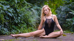 Lana (Marvin Chandra) Tags: d600 85mm lanakalli marvinchandra 2017 bodysuit swimwear model portrait landscapeportrait waiakeakua bridge hiking trail hawaii oahu honolulu manoa nature forest