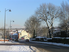 Bredbury in Winter (J_Piks) Tags: lampposts streetlighting streetlights street road bredbury stockport a560 snow winter